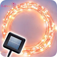 Copper Wires Solar Energy Christmas LED String Light with 100leds