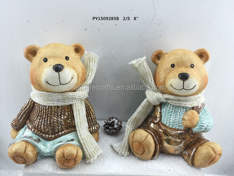 Latest Christmas Teddy Bear Decoration with Sparkling color