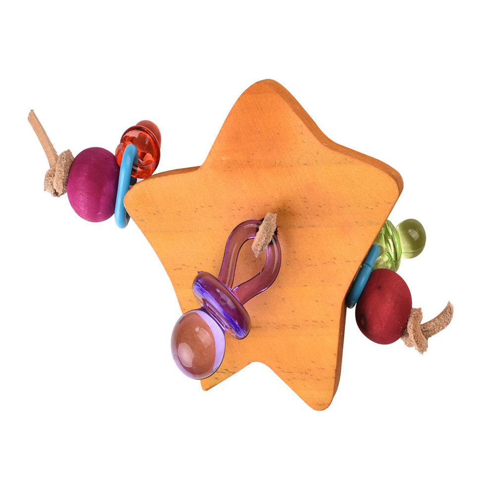 Hugging Ring Wooden Foot Toy for Birds handmade Wooden Foot parrot Toy