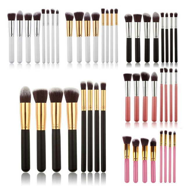 8PCS Brushes Make Up Beauty Cosmetics Foundation Blending Makeup Brush Kit Set Wooden Makeup Tool