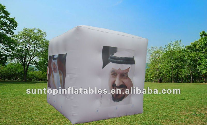 most popular helium adverting inflatable square balloon with good quality and cheap price