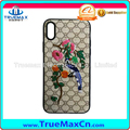 for iPhone 8 x soft TPU embroidery pattern cell phone case cover