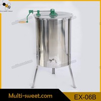 beekeeping equipment 4 frames reversible manual honey extractor