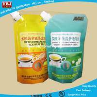 gravure printing and laminated plastic flexible packaging spout pouch