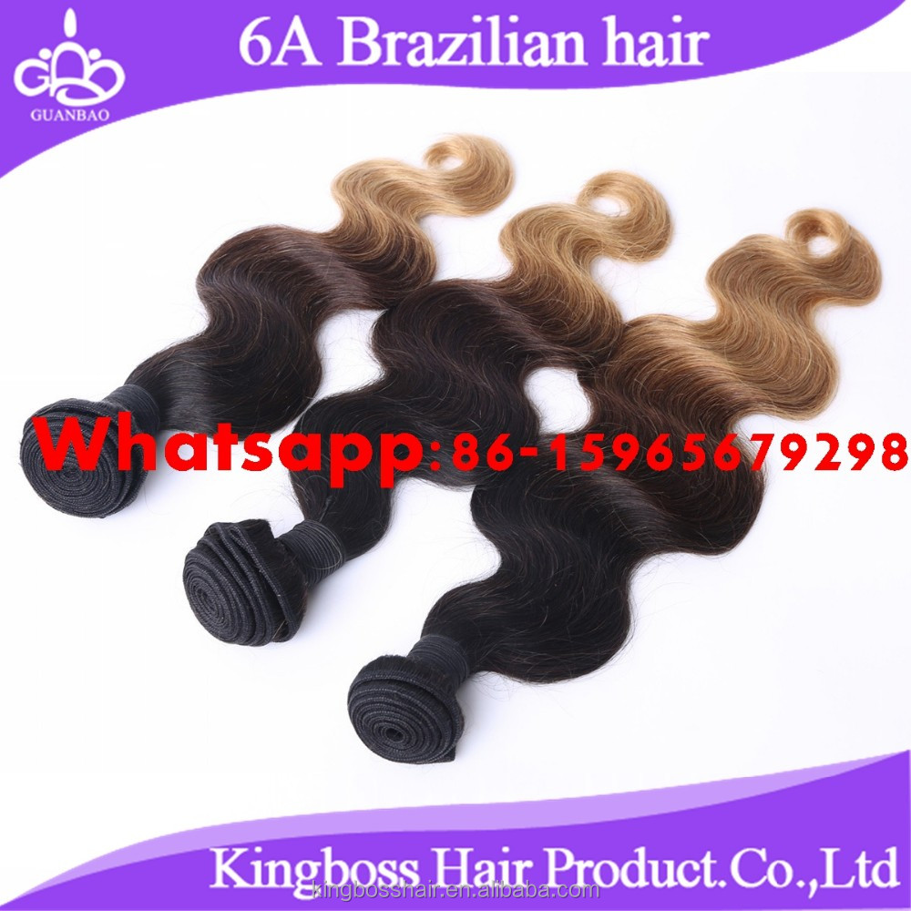 2017 6A hot Human Hair Ombre Hair Extensions body wave Brazilian Hair Bundles Ombre Colour Wonderful Texture