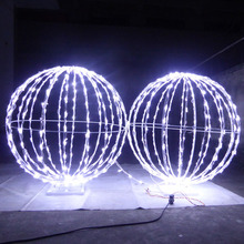 Folding LED Christmas Ball Lights for Outdoor Decoration