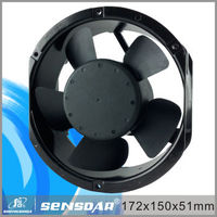172x150x51mm Brushless DC Axial Fan 12v