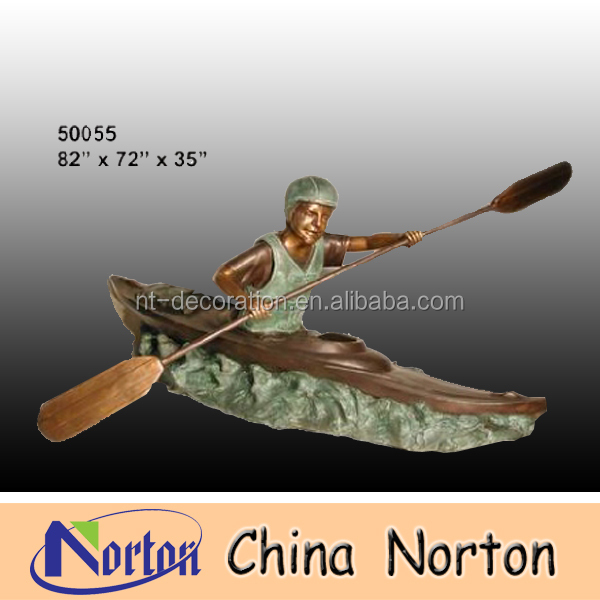 Child boating bronze sculpture NTBH-C030