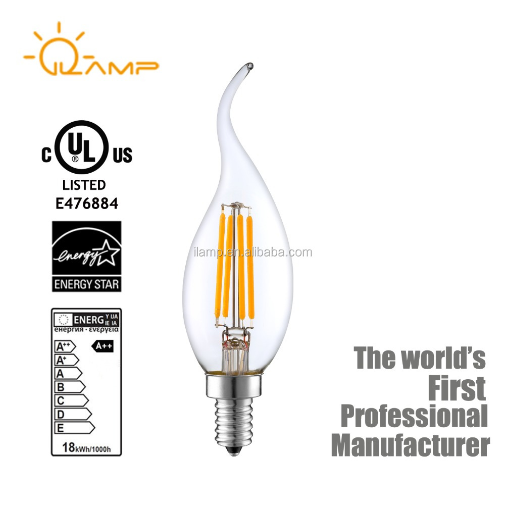 China hot sale high quality C35 E14 LED filament bulb 4w candle bulb Energy saving lamp