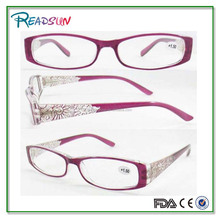 New women's glasses eyewear ,purple color temple with pattern