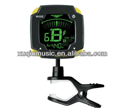 ACT314 free-rotating clip tuner with Backlight for Guitar, Bass, Violin and Ukulele