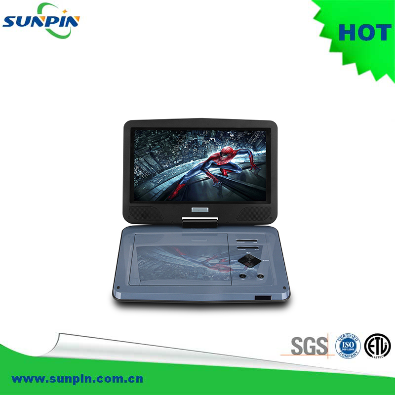 10'' inch portble dvd player/optical dvd reader/compact disc player