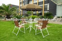metal patio furniture sets in 6pcs(one table,four chair,one umbrella)