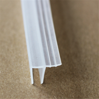 PVC resistant chemically waterproof extrusion transparent shower door seal strip