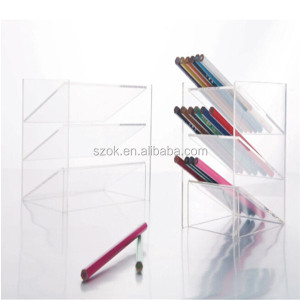 retail high quality portable acrylic pen holder display
