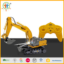 Best seller diecast excavator models toy 2.4G 11 ch metal rc truck for children