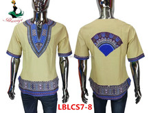 2017 Haniye dashiki african dress embroidery guinea brocade for men LBLCS7