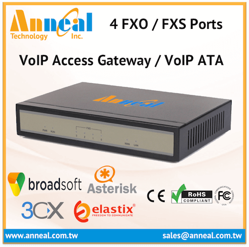 Small Size SOHO 4 FXS Port VoIP SIP PBX Gateway Asterisk Compatible