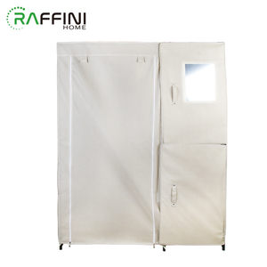 Cheapest White With Zipper Non-woven+Iron Storage Organizer Closet