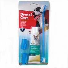 Factory wholesale Pet Cleaning suit,dog toothpaste and toothbrush suit dental care