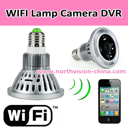 720P HD wifi cctv bulb mini dvr with app for iphone/android, support micro-sd card