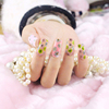 Fashionable beauty lady 3d nail stickers,china nails supplies