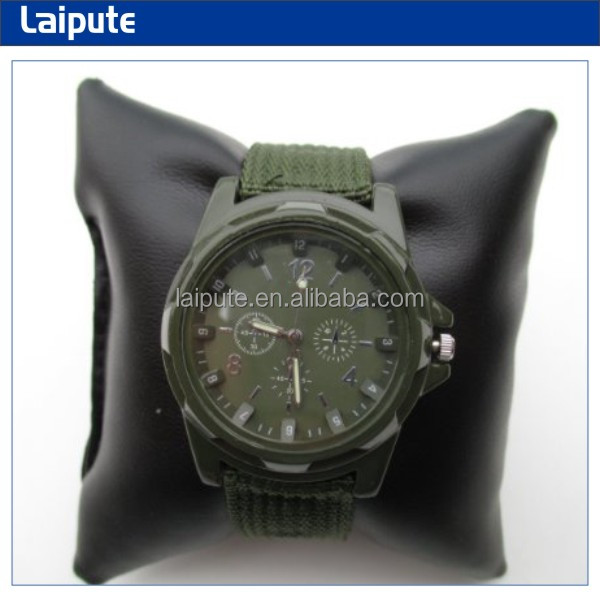 Cool Summer,Green Color Military Army Pilot Fabric Strap Sports Men's Swiss Military Brand Watches