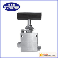 Manual control high pressure stainless steel needle valve