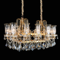 Wholesale gold indian crystal chandelier top crystal with high quality