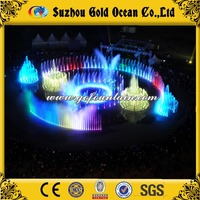 Beautiful long wall cascading water music fountain used for indoor or outdoor decoration