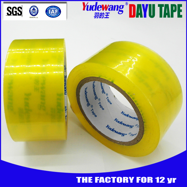 adhesive packing sealing scoth bopp sticky wrapping tape