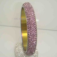 Unique Indian Diamond Jewelry for Women Gold Plated Bangles with Stainless Steel
