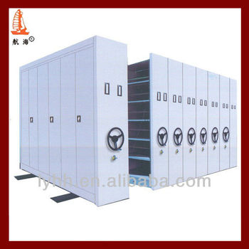 Mobile Archive Shelving Mobile File Cabinet Control room standard Bank Metal mobile storage filing system