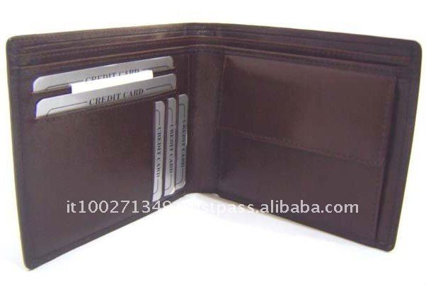 1053-opened 2-Fold Brown Leather Wallets for Men