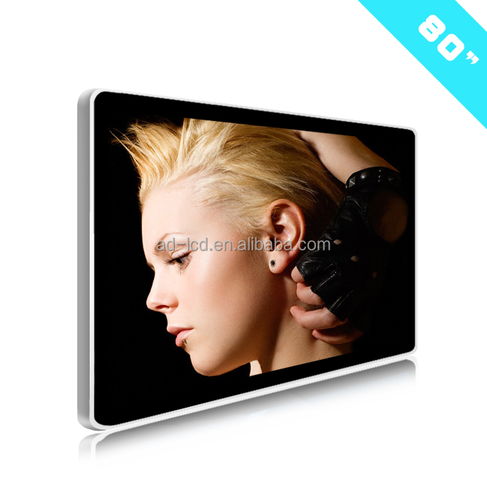 "80"" digital advertising player led tv 100 inch lcd ads player"