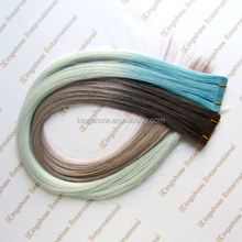 high quality 100% human PU grey human hair weaving