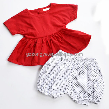 wholesale unique kids clothes summer short baby clothes shirt & pants