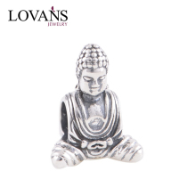 925 Sterling Silver Wholesale Buddha Charms Fit European Brand DIY Snake Bracelet T085