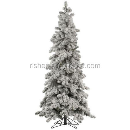 8ft falling snow christmas tree unique dancing flocking xmas tree