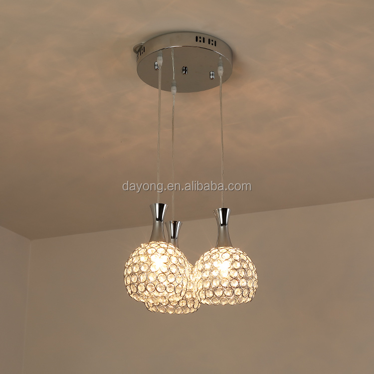 Three Light Source Pendant Chandelier Lighting For Kitchen