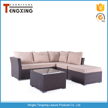 Hot sale outdoor garden sofa 5 pcs rattan furniture ningbo