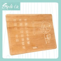 2015 Taiwan new design customized handcrafted carved personalized special wood business name card