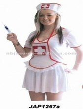 Ladies Red Jersey Sexy Nurse costume/Suit Set