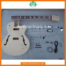 BK011 Semi Hollow Body Style DIY Unfinished Project Luthier Electric Guitar Kit