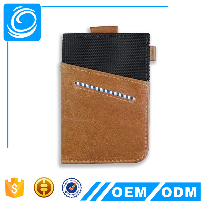 Mens Genuine Leather Ultra Thin Card Holder Slim Credit Card Sleeve Wallet