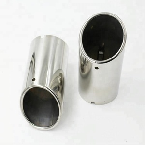 High Quality 304 Stainless Steel Chrome Exhaust Muffler Tip Pipe For VW Jetta 6 MK62011 2012