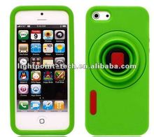 Hot selling fashion silicon camera case for iPhone 5 5G
