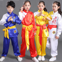 Children Wushu Costume New Youth long/short sleeved clothes kids Tai Chi clothing Kung Fu performance suit material arts suit