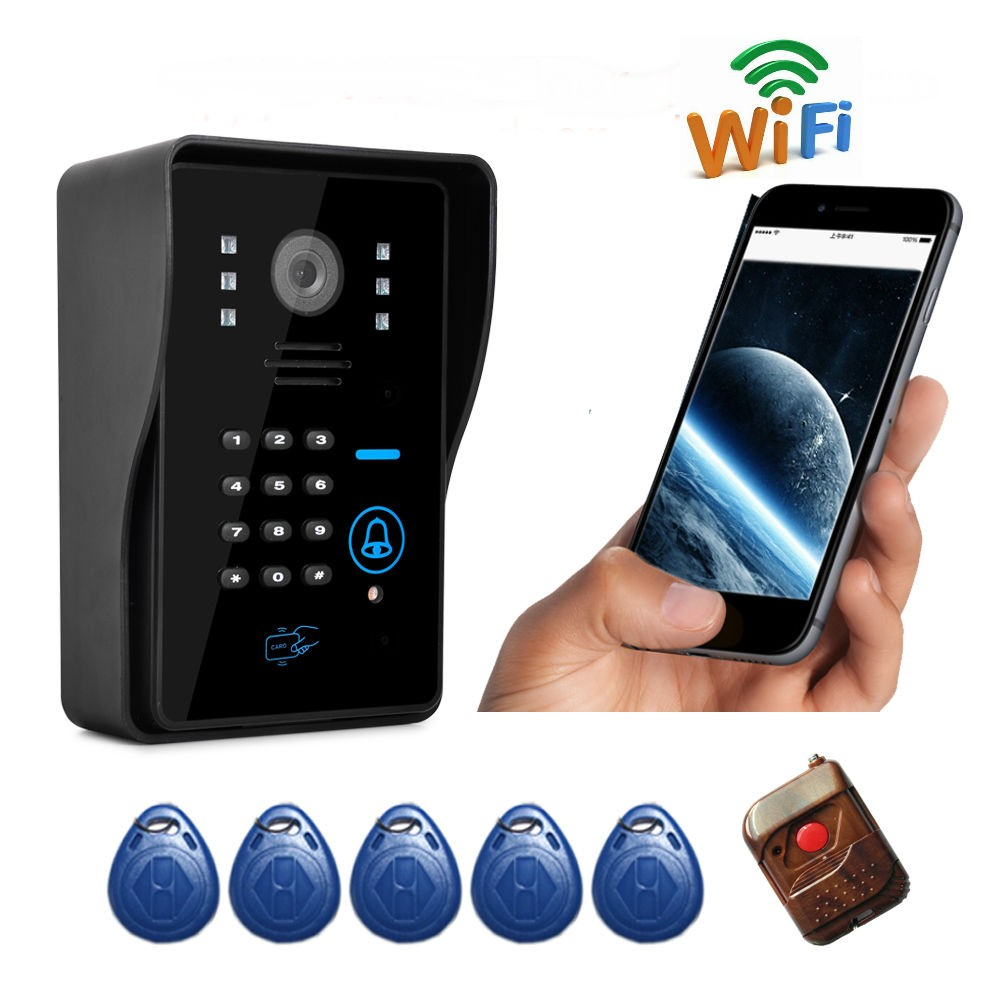 Wireless POE Smart Doorbell WiFi Doorbell with Camera 720P HD Video Doorbell Night Version IR Motion Detection Alarm for IOS