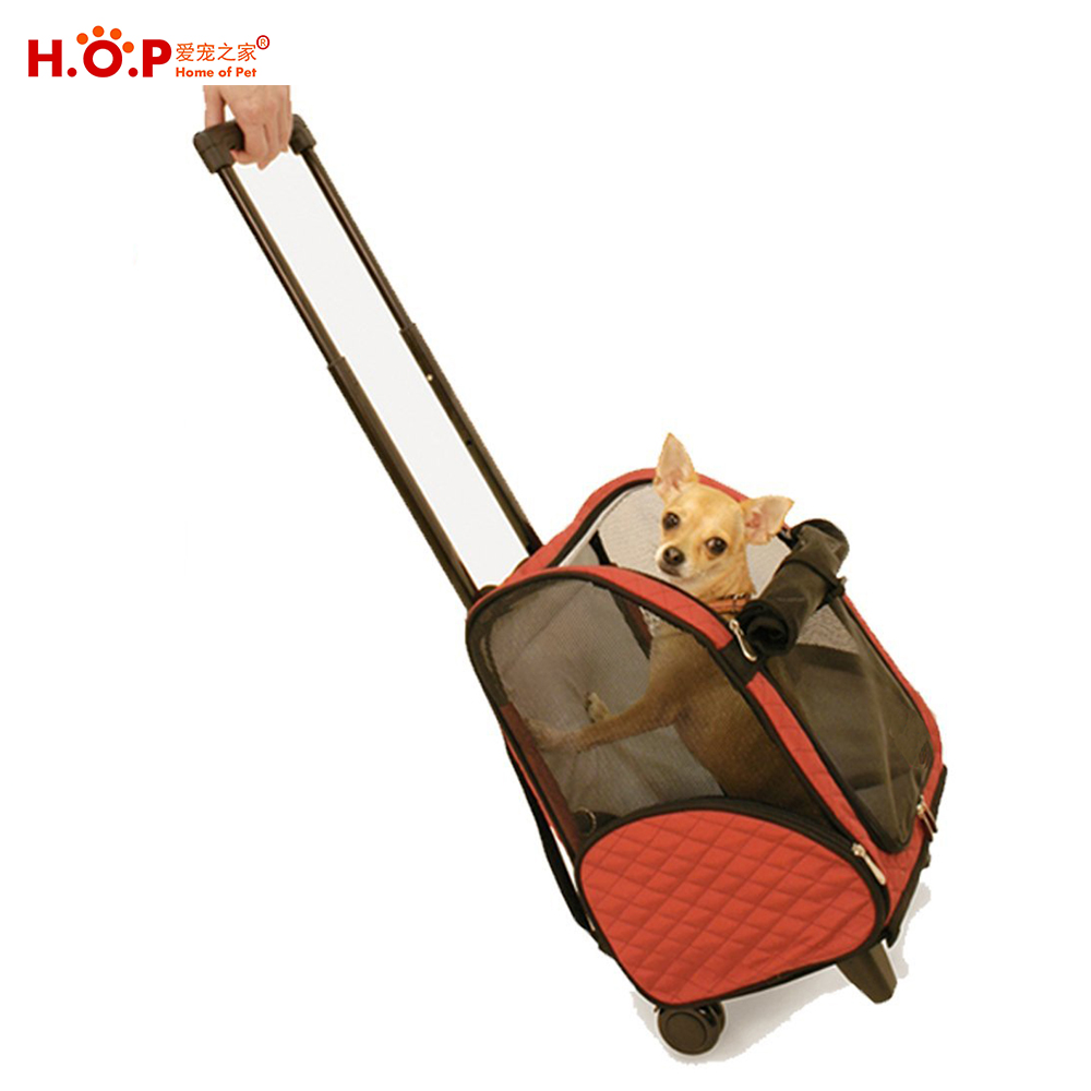 Medium Dog Puppy Airline Approved Rolling Stroller Travel Carrier Pet Carrier With Wheels